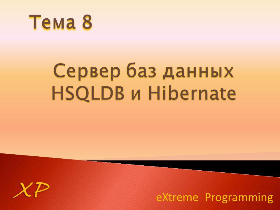 eXtreme Programming XP Тема 8