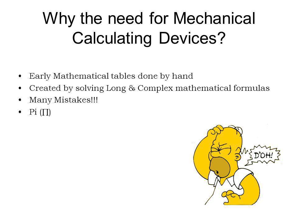Leonardo daVinci Made many drawings of calculating machines Never built a working model