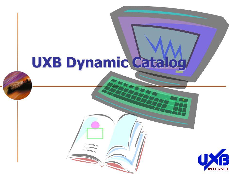 UXB Dynamic Catalog