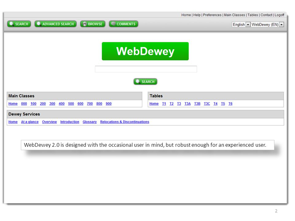 Terms on the WebDewey 2.0 records -- that are hyperlinked -- go to their authority file records. 13