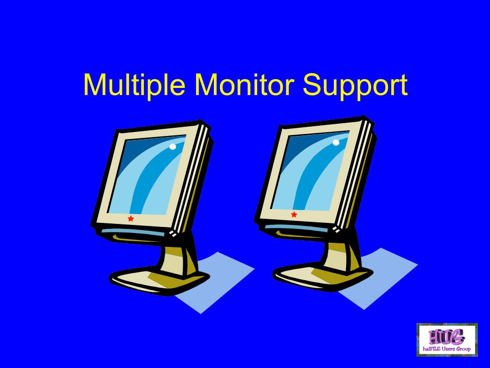 Multiple Monitor Support
