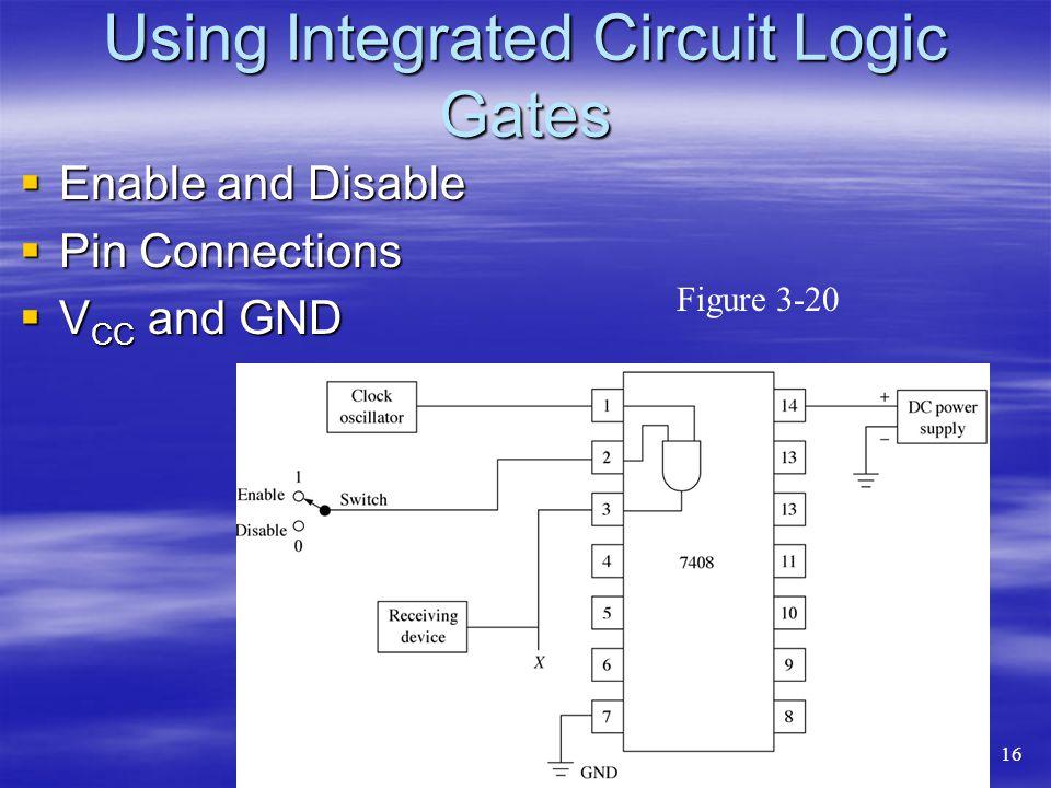 Using Integrated Circuit Logic Gates Enable and Disable Enable and Disable Pin Connections Pin Connections V CC and GND V CC and GND Figure 3-20 16