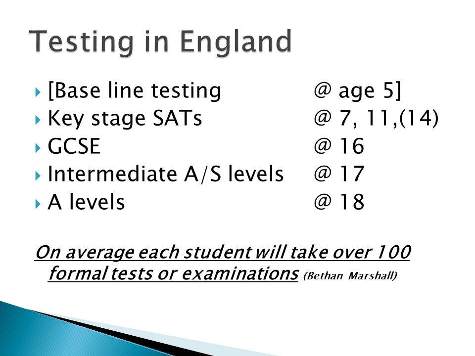 Teaching to test Turning learners off Unreliability Collusion and even cheating Stressed children/parents Huge costs Lack of reliability Negative effects of league tables on all aspects of schooling.