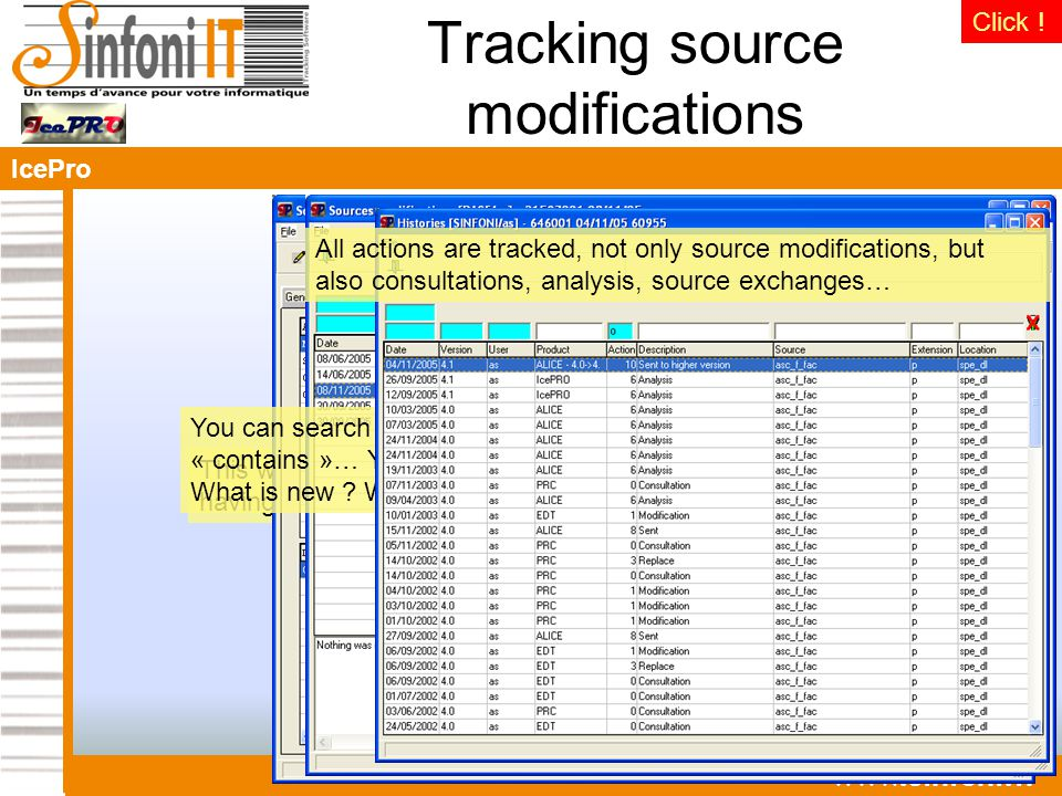 IcePro   Tracking source modifications This window appears each time you close a source after having modified it.