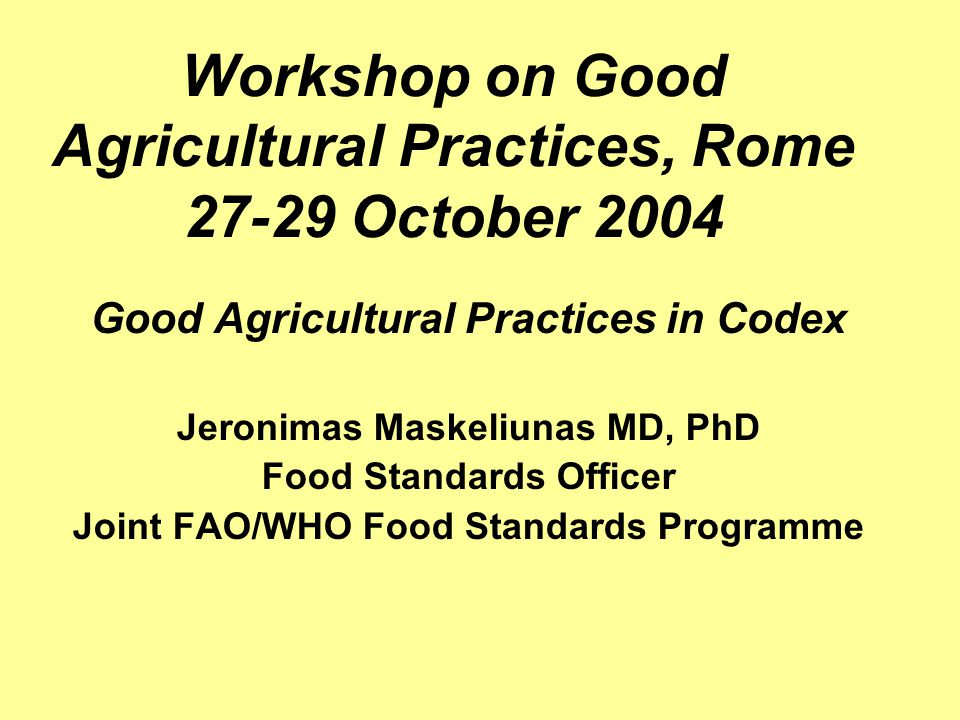 Recommended International Code of Practice - General Principles of Food Hygiene (CAC/RCP 1-1966, Rev.4-2003) : Applicable to all food industries and includes provisions for hygiene control measures from primary production throughout the food chain up to consumers