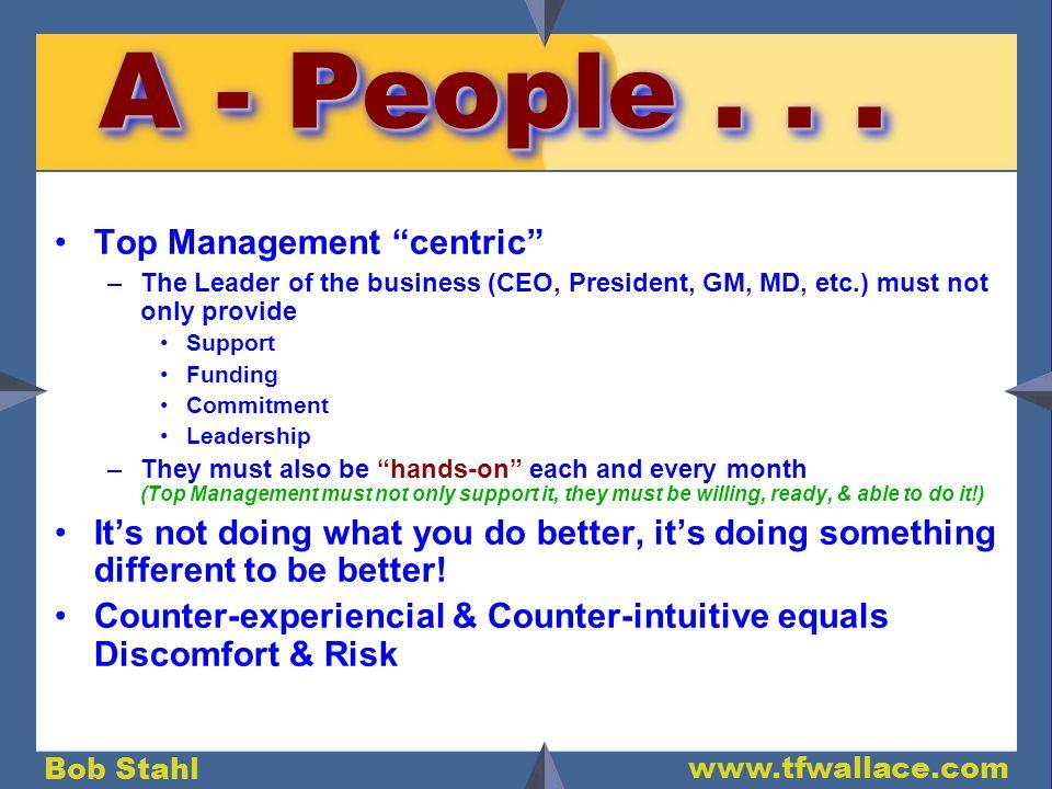 Bob Stahl www.tfwallace.com A - People...