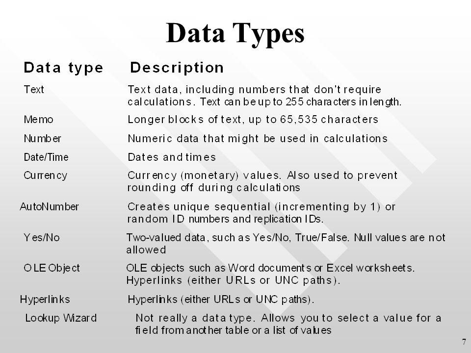 Data Types 7