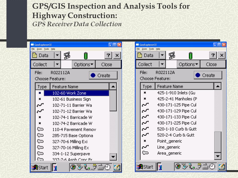 GPS/GIS Inspection and Analysis Tools for Highway Construction: GPS Receiver Data Collection