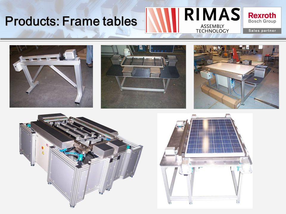Products: Frame tables