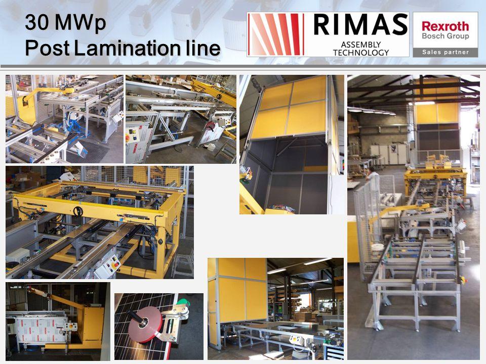 30 MWp Post Lamination line