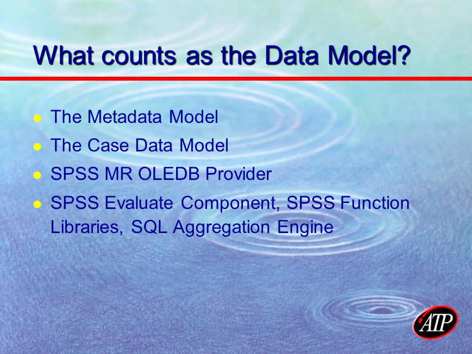 What counts as the Data Model.