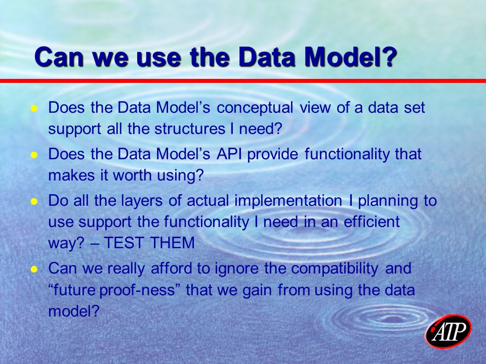 Metadata Model - Structure Thinking of the Data Model as a data format analogous to SSS – does the metadata object model definition support all the basic structures I need.
