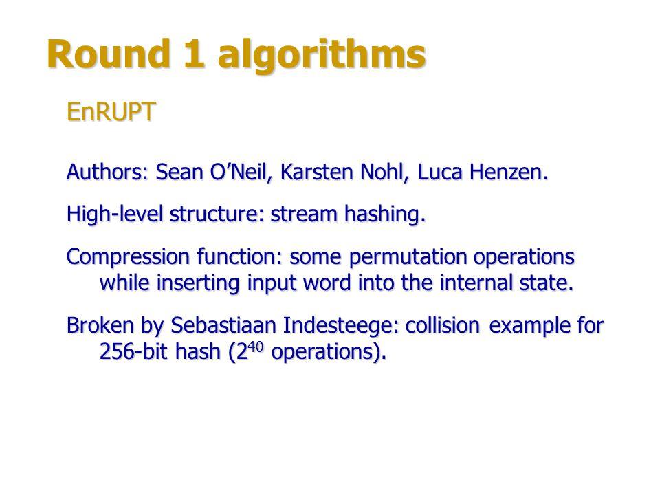 Round 1 algorithms Authors: Jason Martin.High-level structure: balanced binary tree.