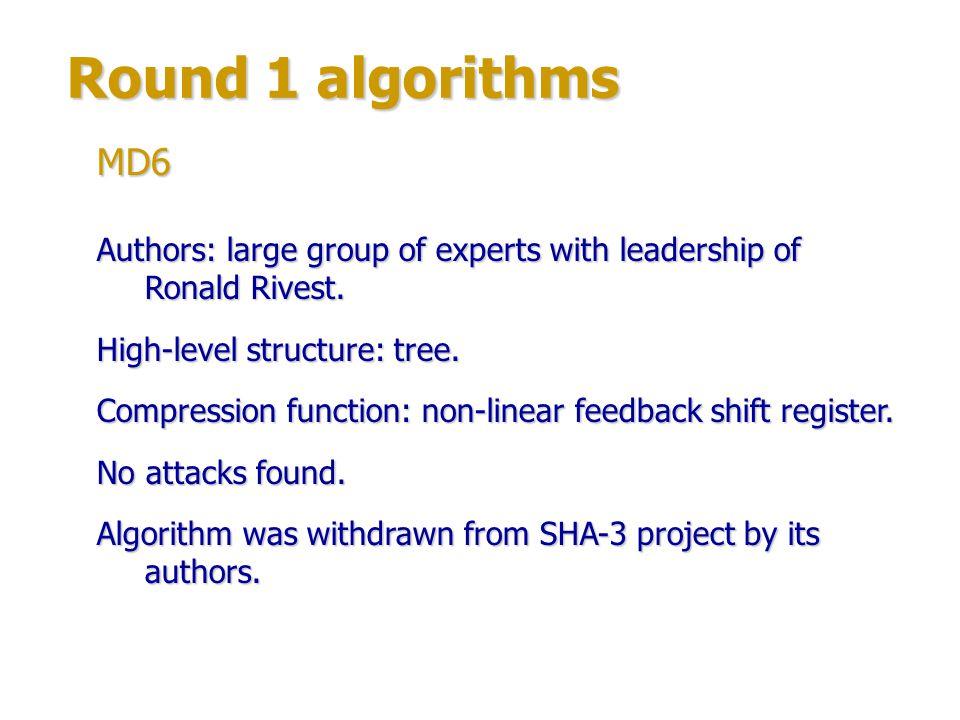 Round 1 algorithms Authors: Smile Markovski & Aleksandra Mileva.