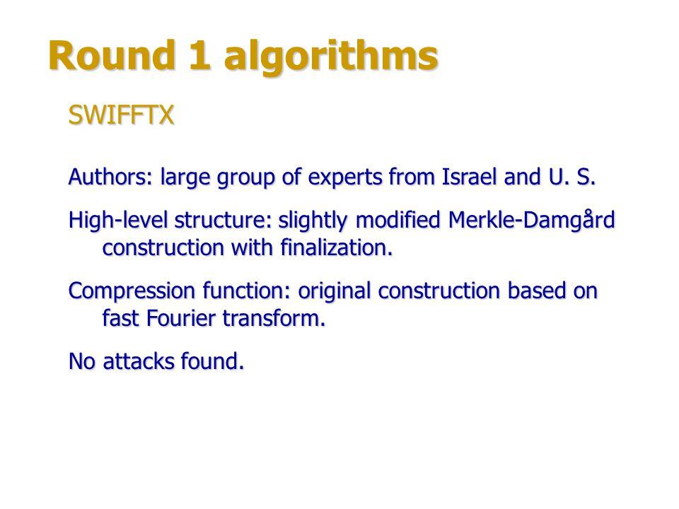 Round 1 algorithms Authors: Miguel Montes, Daniel Penazzi (Cordoba University, Spain).