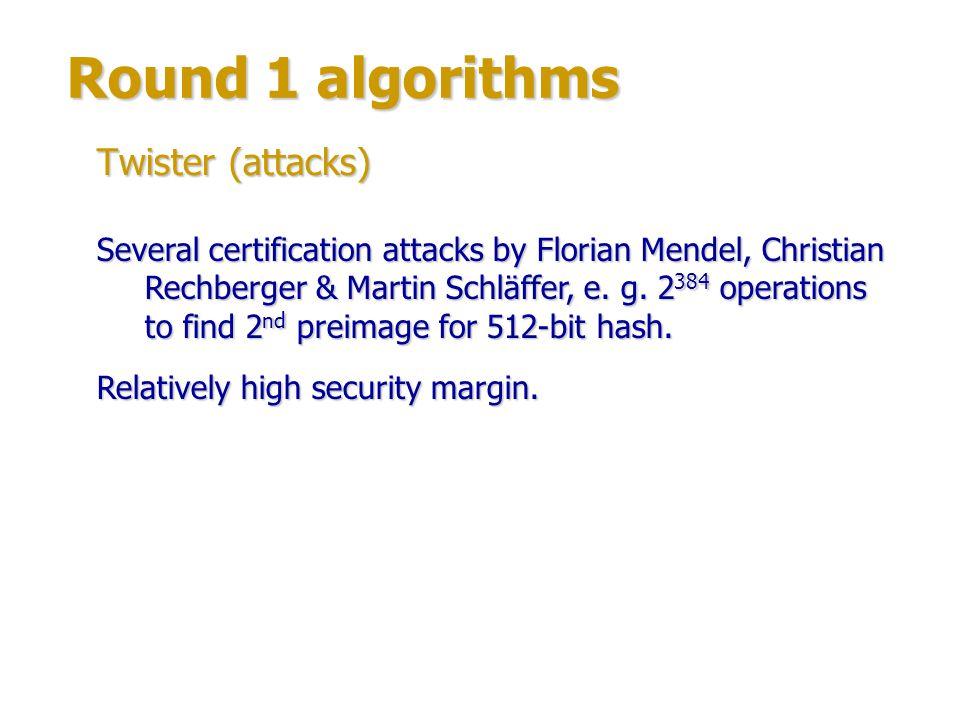 Round 1 algorithms Authors: Shay Gueron & Michael Kounavis (Intel Corp.).