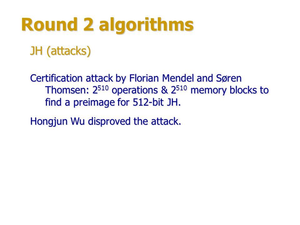 Round 2 algorithms Authors: Guido Bertoni, Joan Daemen, Michaël Peeters & Gilles Van Assche.