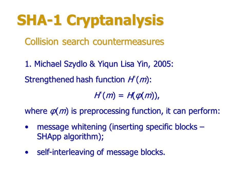 SHA-1 Cryptanalysis 2.