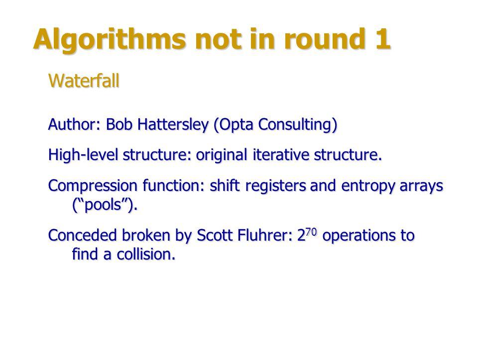 Round 1 algorithms Authors: Specialists from Korea University, Seoul.
