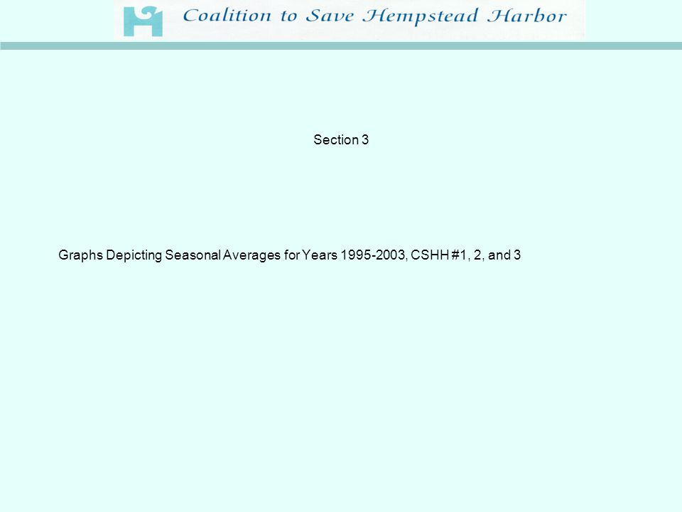 Section 3 Graphs Depicting Seasonal Averages for Years 1995-2003, CSHH #1, 2, and 3