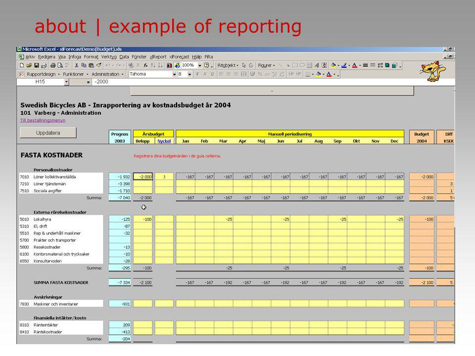 ncg | group about | example of reporting