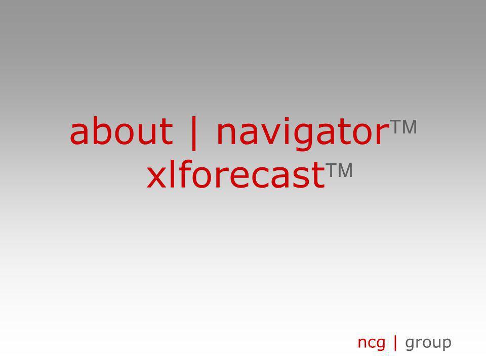ncg | group about | navigator xlforecast