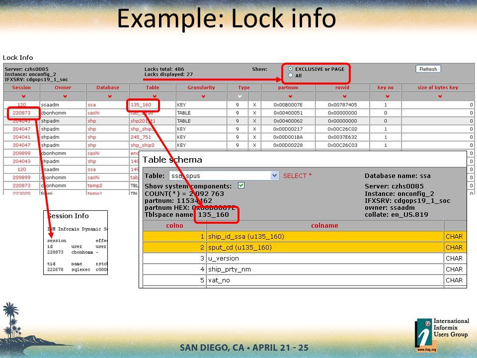 Example: Lock info