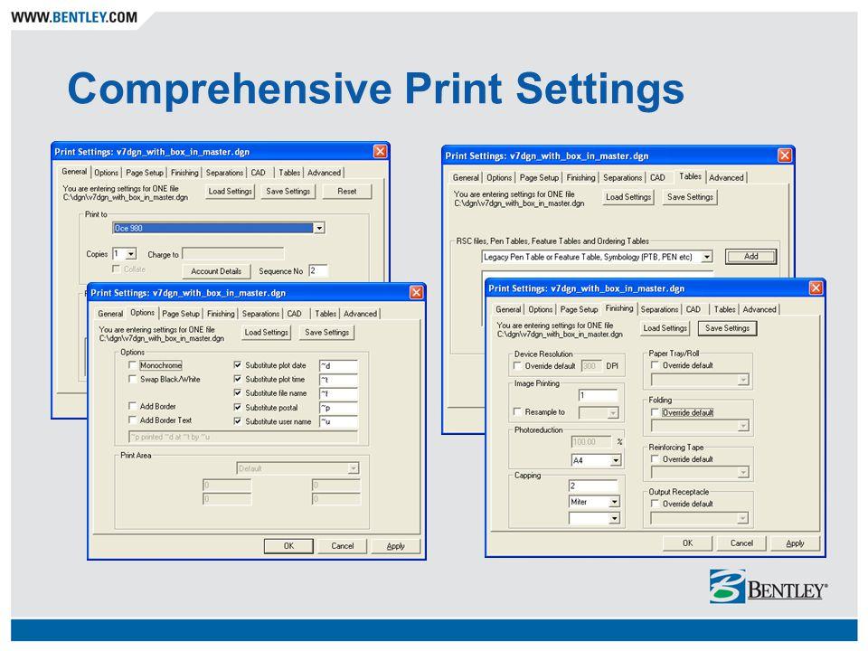 Comprehensive Print Settings
