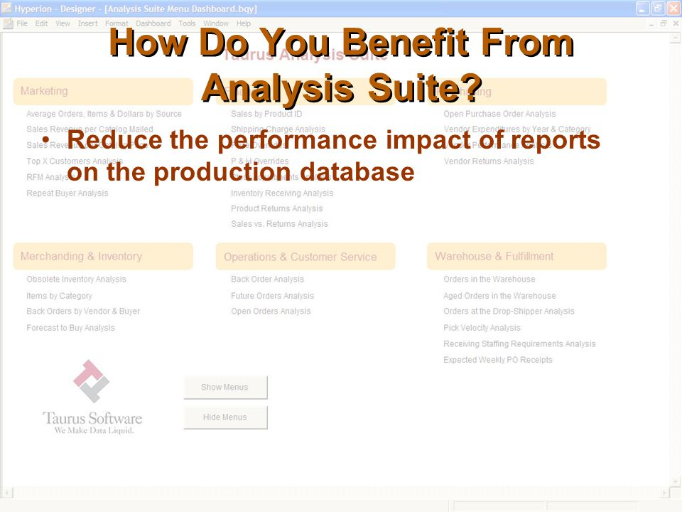 How Do You Benefit From Analysis Suite.
