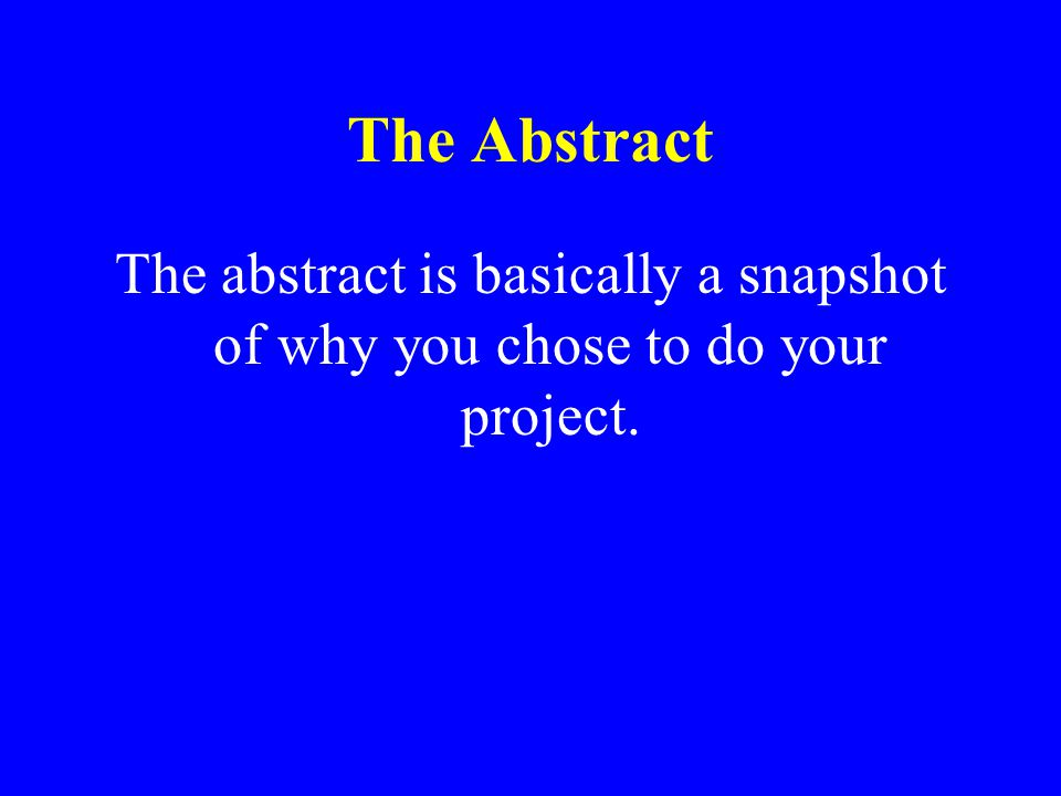 Science Project Display Board Title of the Project Data Tables or Charts or Observations Graphs Abstract Problem 1 question Materials Procedures Drawi