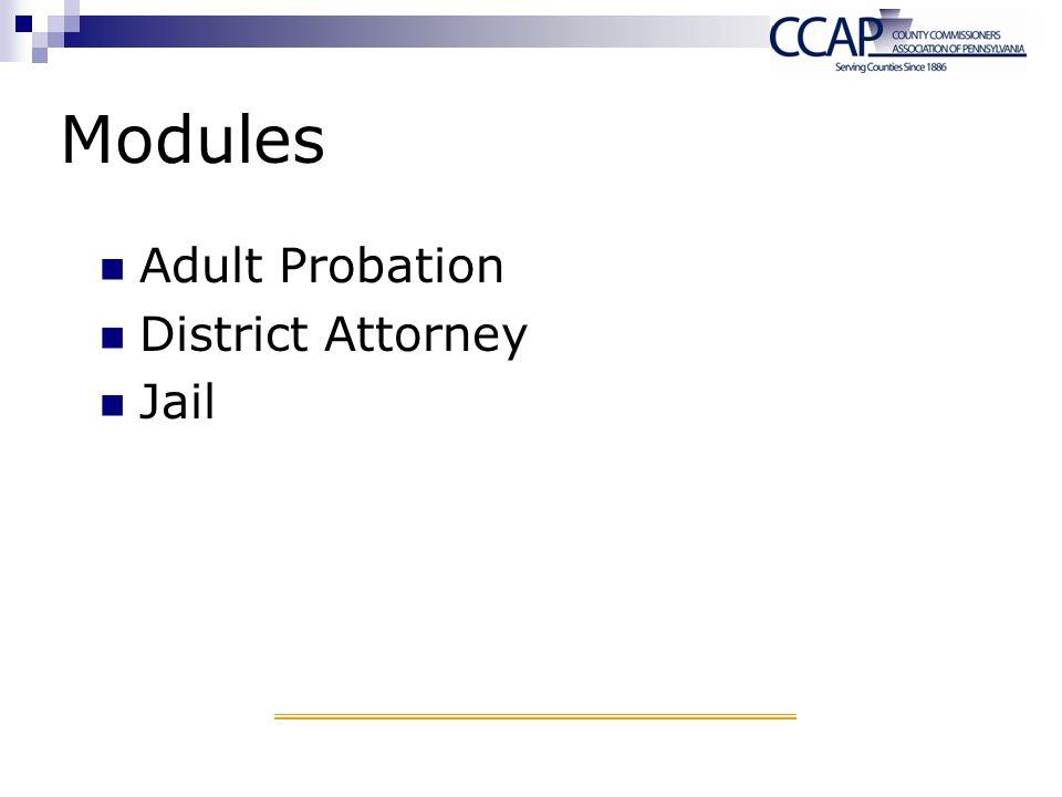 Modules Adult Probation District Attorney Jail