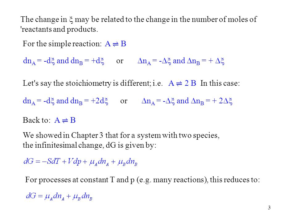 24 The Response of Equilibrium to Pressure Condensed Phase Reactions: The external pressure has no effect.