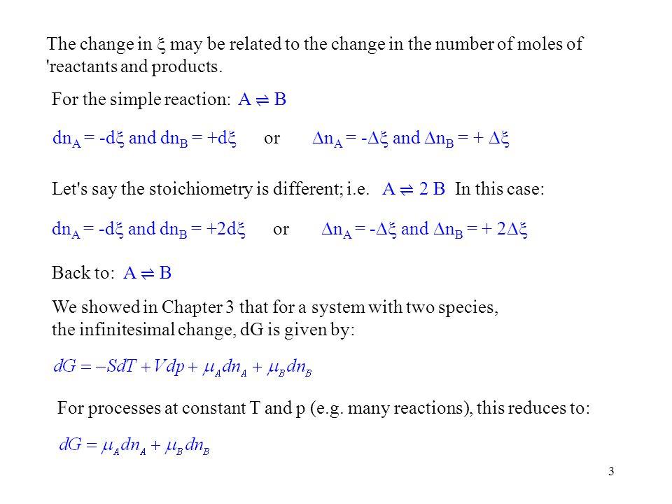 34 ln(K) 1/T Slope = - r H o /R The second form of the van t Hoff equation illustrates that if one plots ln(K) vs.