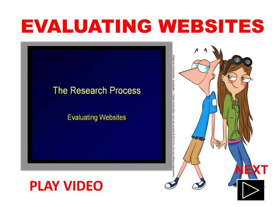 EVALUATING WEBSITES PLAY VIDEO NEXT