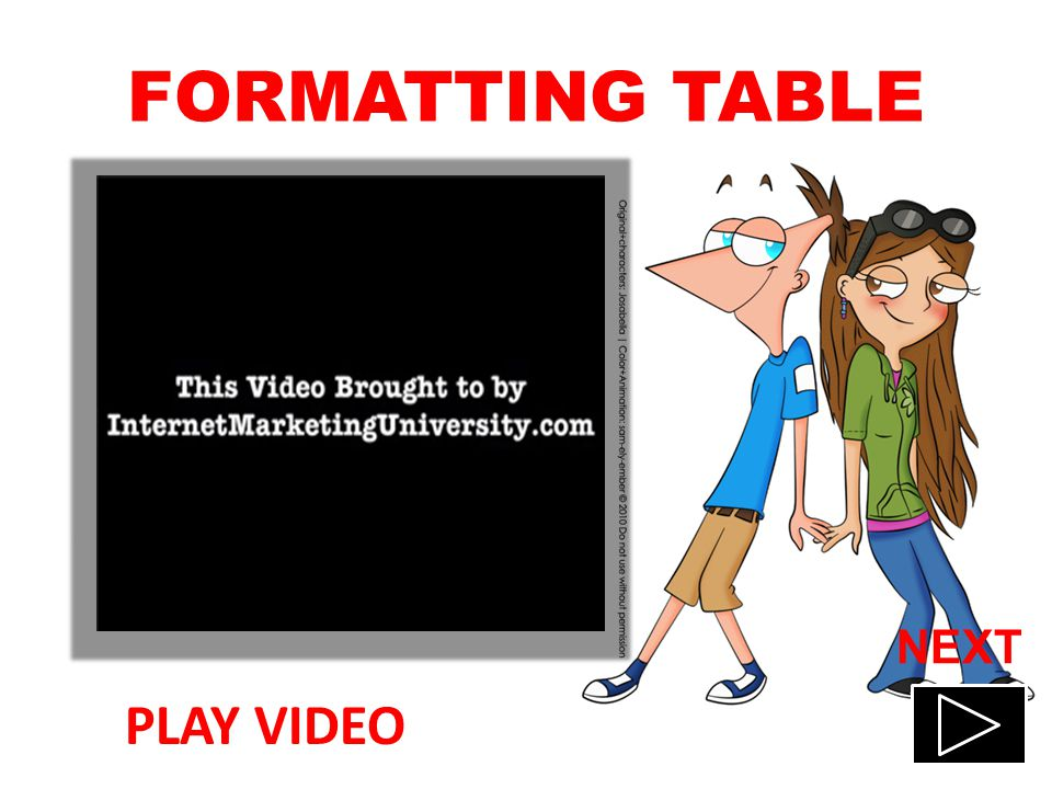 CREATING TABLES PLAY VIDEO NEXT