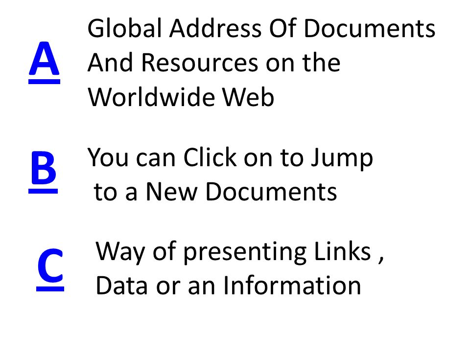 ANCHOR TAG Use To Create A HyperLink Use To Create A Bookmark SPEAK NEXT