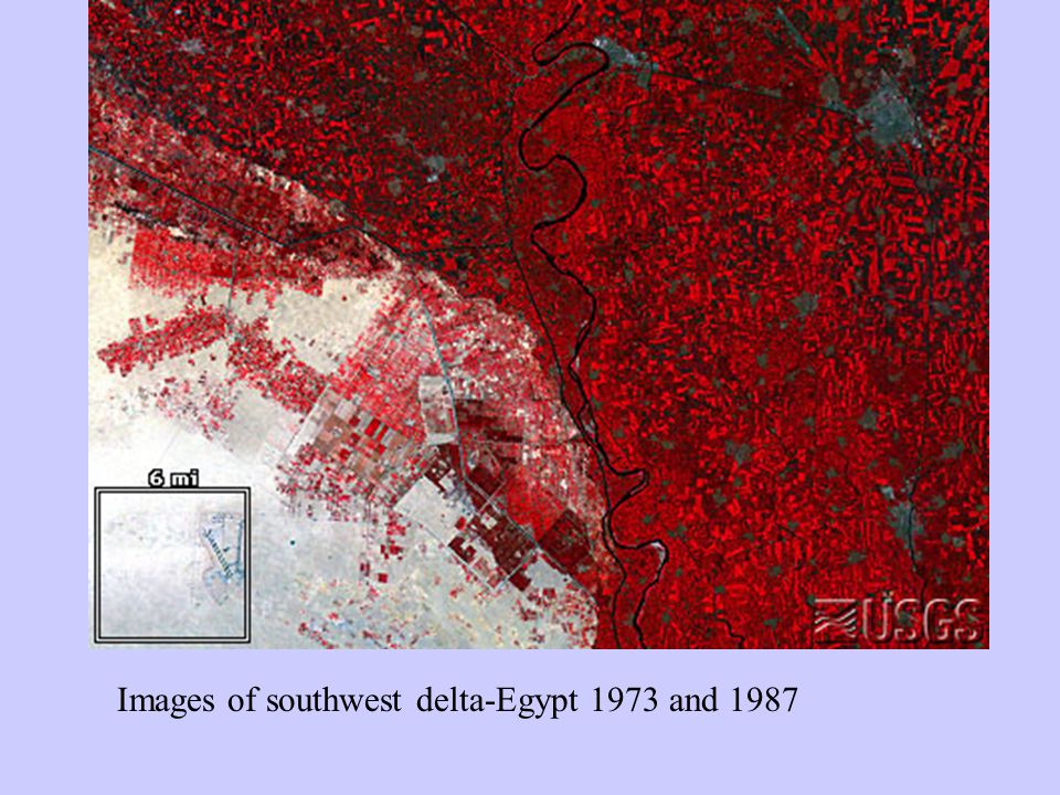 Images of southwest delta-Egypt 1973 and 1987