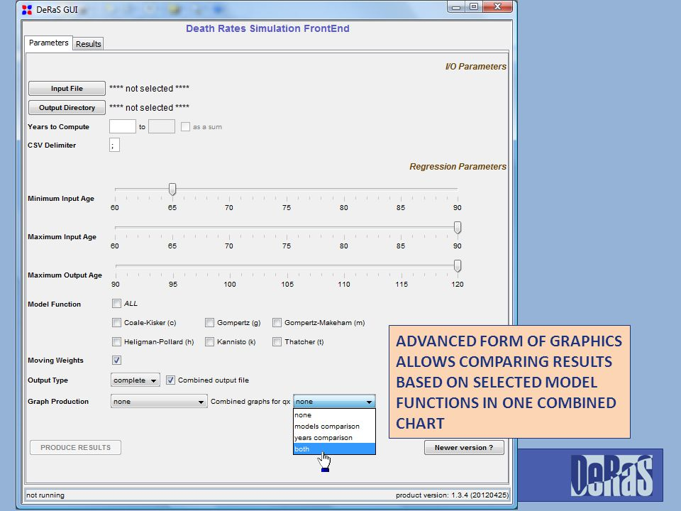 ADVANCED FORM OF GRAPHICS ALLOWS COMPARING RESULTS BASED ON SELECTED MODEL FUNCTIONS IN ONE COMBINED CHART