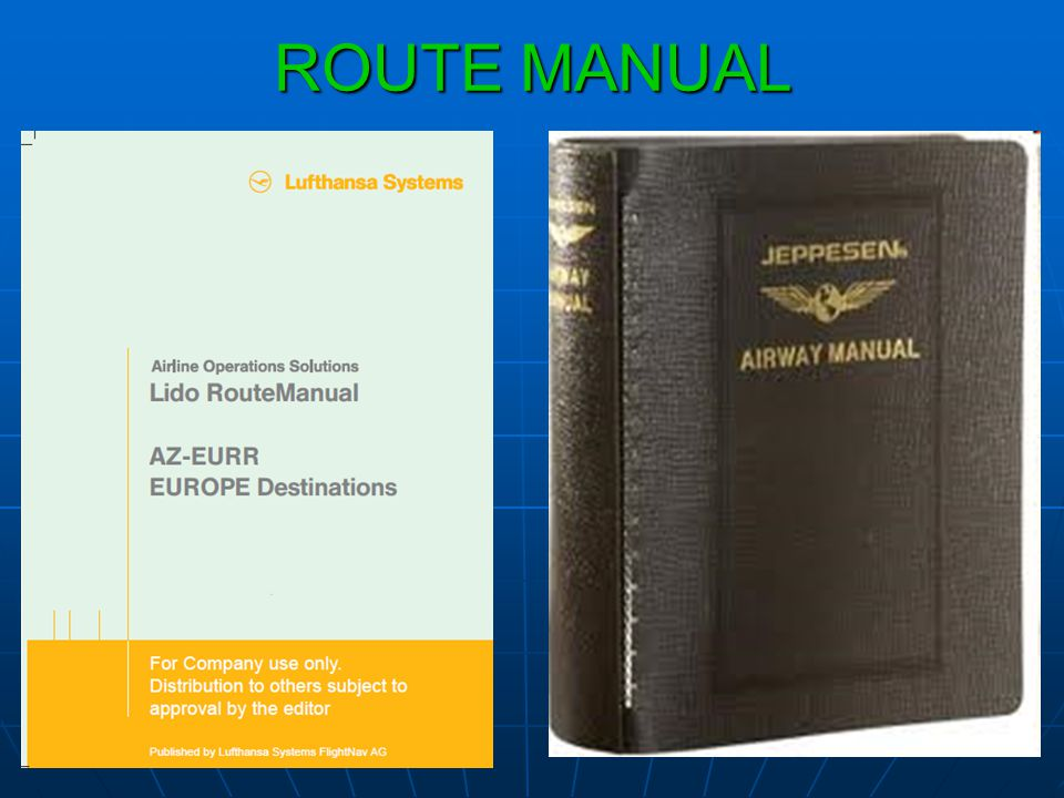 ROUTE MANUAL
