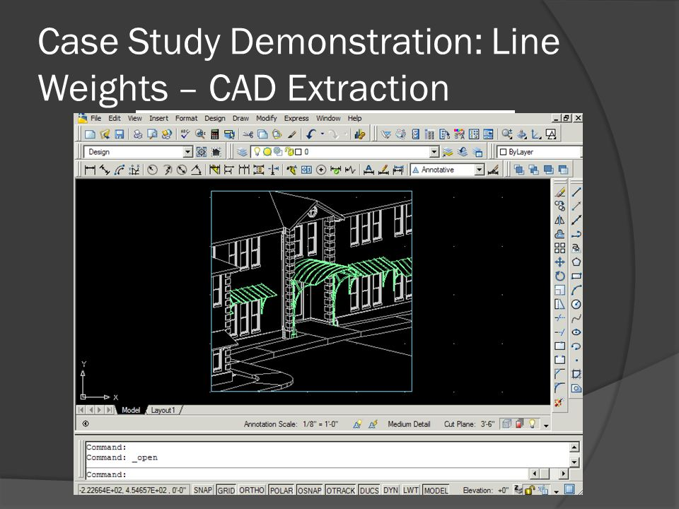 Case Study Demonstration: Line Weights – CAD Extraction