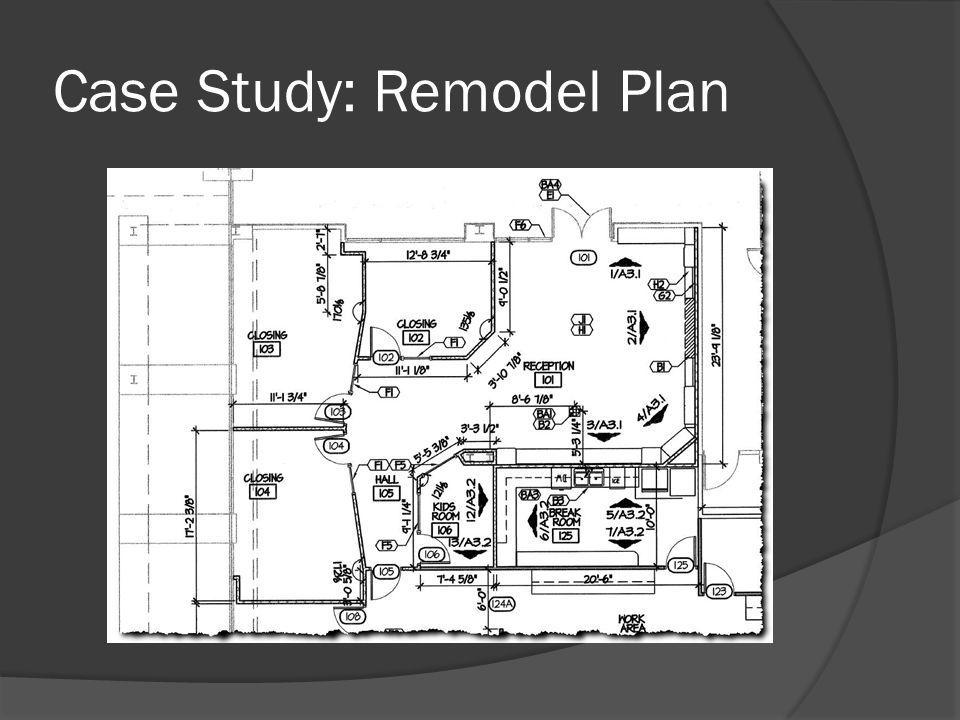 Case Study: Remodel Plan