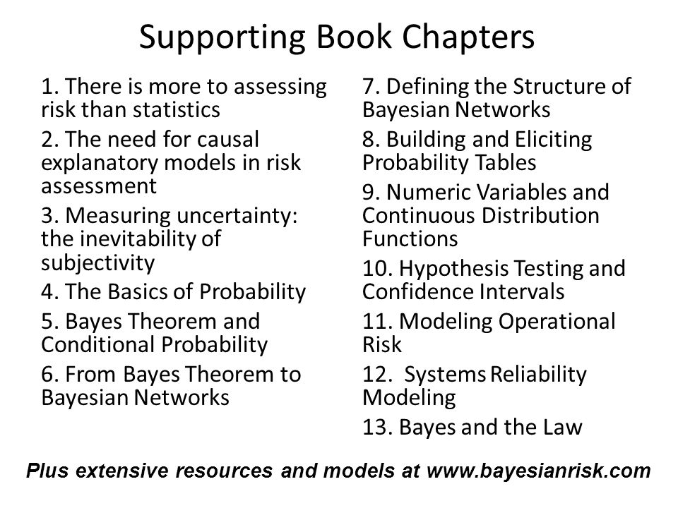 1. There is more to assessing risk than statistics 2. The need for causal explanatory models in risk assessment 3. Measuring uncertainty: the inevitab