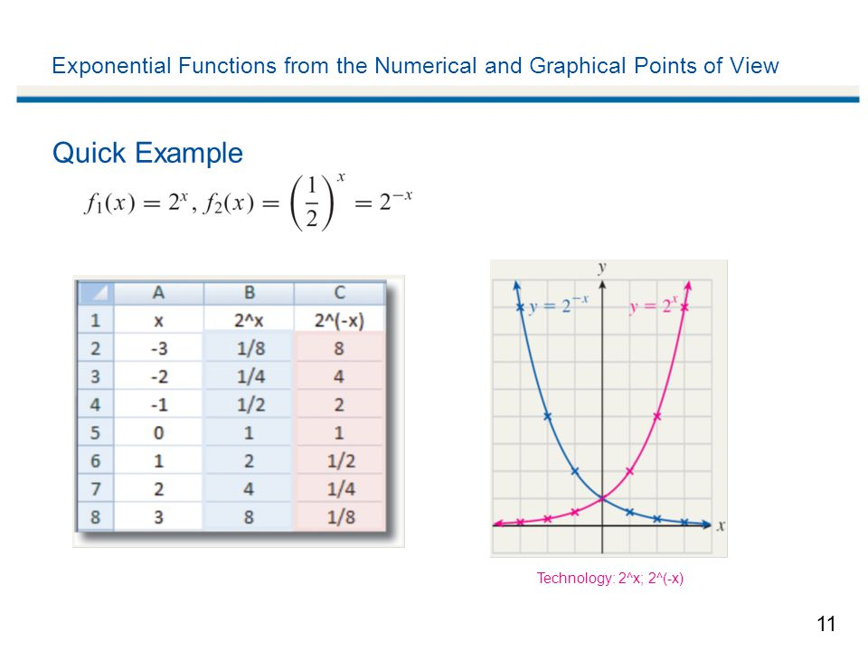 Exponential Function Examples 11 Exponential Functions From