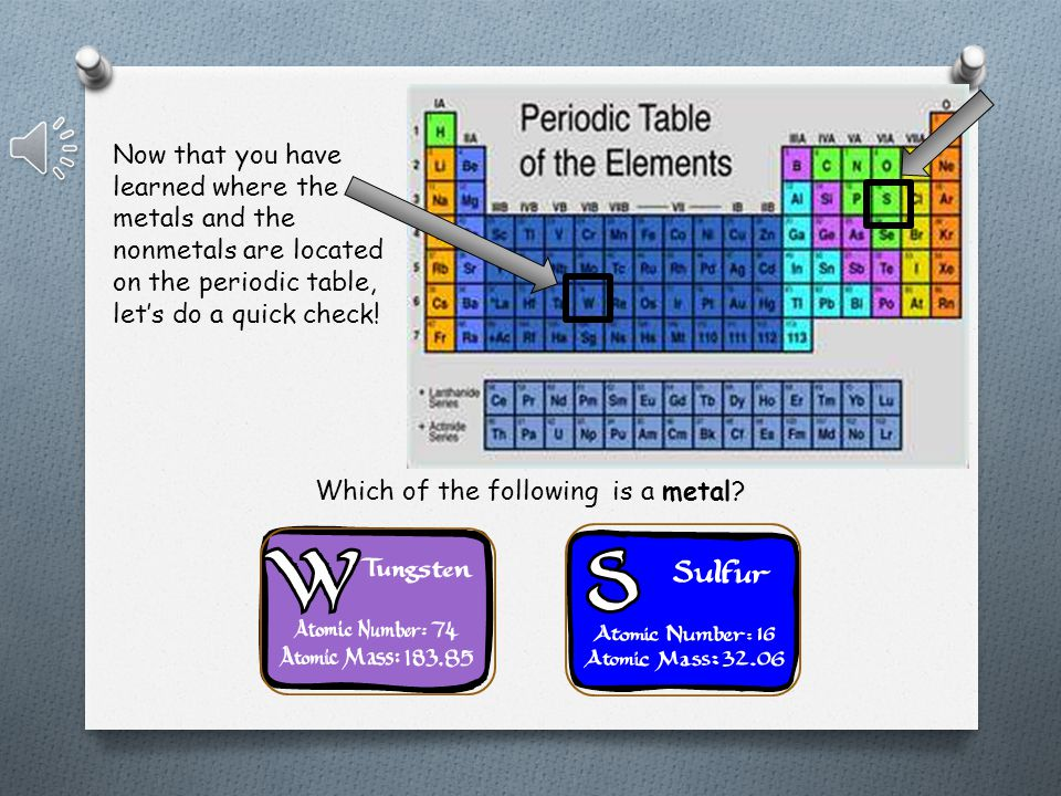 Nonmetals are found on the right side of the Periodic Table (To the right of the stairstep) Nonmetals can be solid, liquid, or gas Nonmetals tend to be brittle and have low melting points Nonmetals come in many colors Nonmetals take on electrons in order to make compounds with metals Nonmetals will share electrons to make compound with other nonmetals
