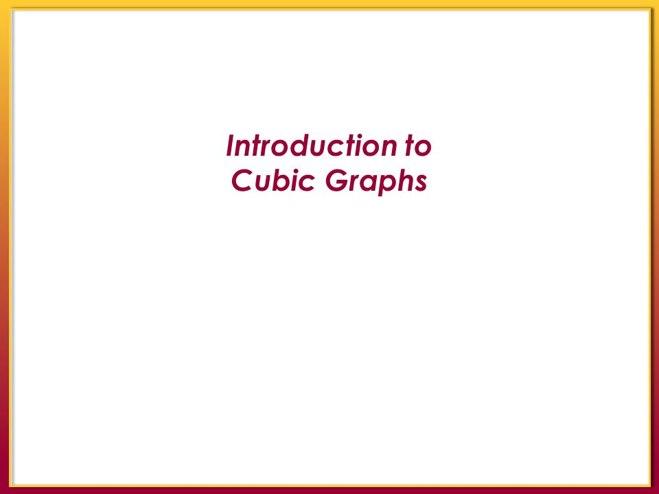 Introduction to Cubic Graphs