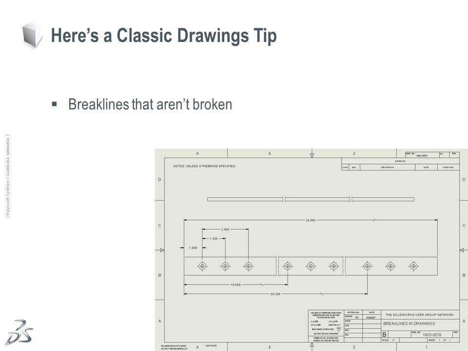31 Ι © Dassault Systèmes Ι Confidential Information Ι Breaklines that arent broken Heres a Classic Drawings Tip