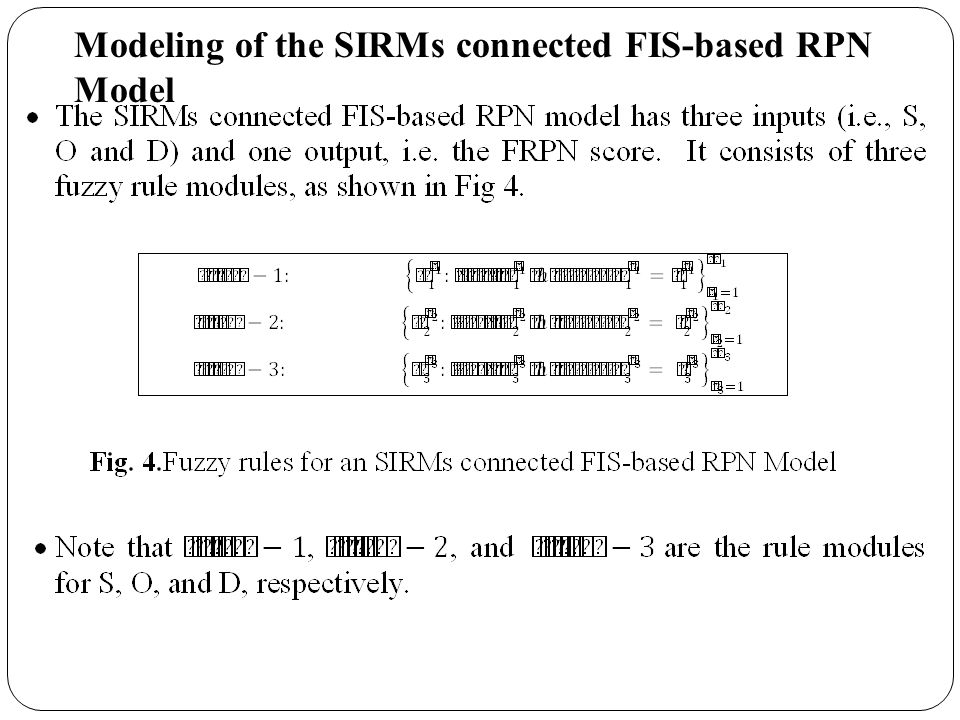 Modeling of the SIRMs connected FIS-based RPN Model