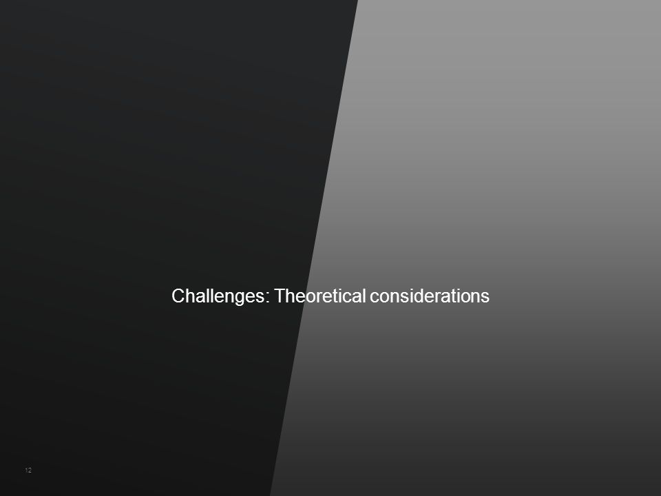 ©2011 Hewlett-Packard Company and Vertica Confidential12 Challenges: Theoretical considerations