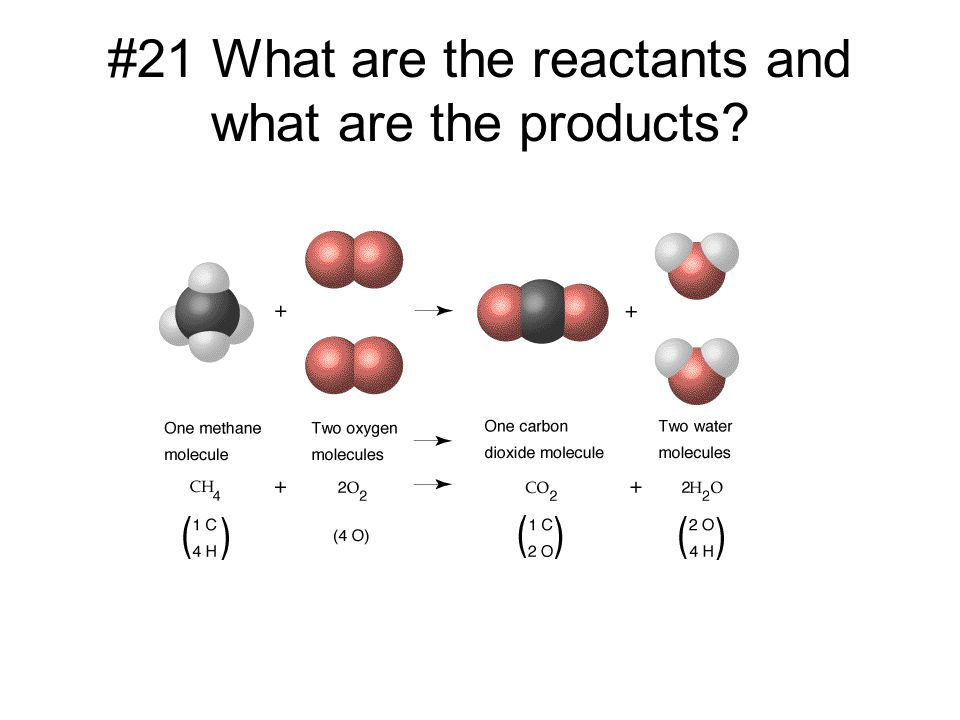 #21 What are the reactants and what are the products?