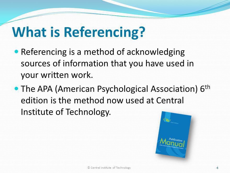 What is Referencing.